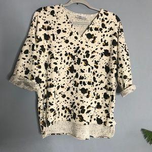 ZARA Trafaluc Leopard Cow Print Knit Top